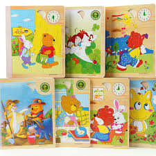 6sides set 3d animal wooden puzzle story books iq children