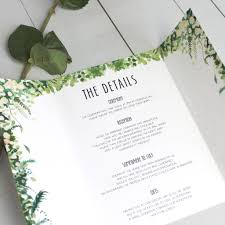 floral arch wedding invitation gate fold by beija flor studio
