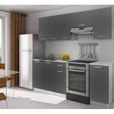 cuisine equipee pas cher cuisine complète équipée 2m20 lamina grise pas cher