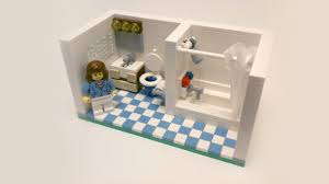lego kitchen a complete tutorial on a guest bathroom which includes a block
