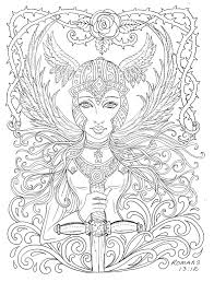 angel color pages warrior angel coloring page christian color by chubbymermaid