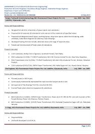 Control M Resume Janakiram E Resume Protection And Control Engineer