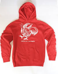 men u0027s ludo bites los angeles red hoodie sweatshirt u2013 ludo