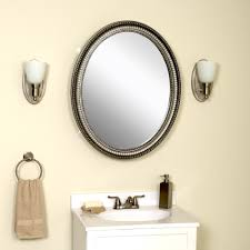 Oval Mirrors For Bathroom by Zenith Products Oval Medicine Cabinet Pewter