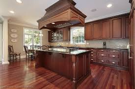 What Color To Paint Kitchen Cabinets With Black Appliances Cherry Wood Kitchen Cabinets Brown Varnished Wood Kitchen