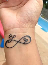 infinity tattoo with initials pictures to pin on pinterest