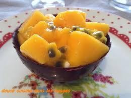 bergamote cuisine mousse de chocolat blanc à la bergamote salade de mangue douce