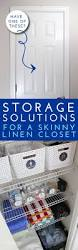 storage solutions for a skinny linen closet the homes i have made