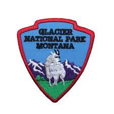 glacier national park travel souvenir iron on patch