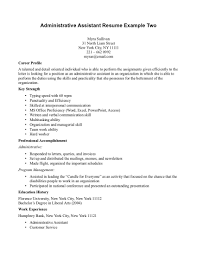 Resume Examples For Administrative Assistant by Administrative Assistant Objective Template Design