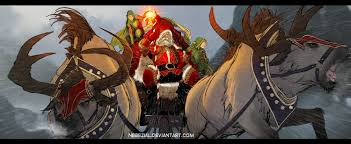 the 30 most badass pieces of santa claus fan art dorkly post