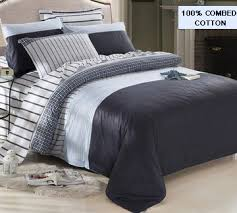 Mens Bed Set New Classic Boho Bedding Set 100 Cotton Comfort Duvet Cover