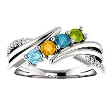 black friday wedding bands customizable mothers ring four birthstone u0026 diamond rings for mom