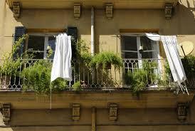 balcony curtain photo balcony with white outdoor curtain palma majorca image