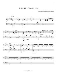 sheet piano good luck beast piano house vn