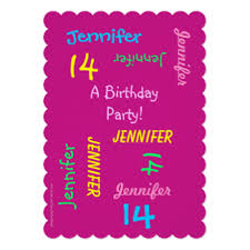 14 year old birthday invitations u0026 announcements zazzle