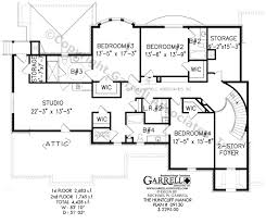 huntcliff manor house plan 09130 2nd floor plan colonial style