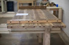 reclaimed wood farm table from start to finish reclaimed wood