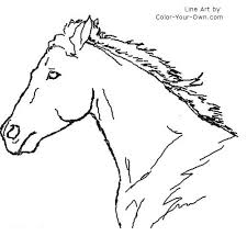 horse head coloring getcoloringpages
