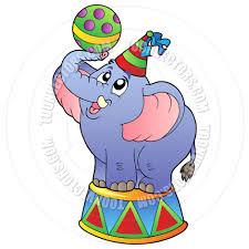 cartoon circus elephant by clairev toon vectors eps 38953