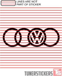 audi rings volkswagen audi rings tuner stickers