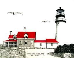 Best Cape Cod Lighthouses - cape cod lighthouses drawings fine art america