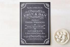 Rustic Vintage Wedding Invitations A Chalkboard Marriage Wedding Invitations By Erin Deegan Minted