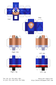 Sonic The Hedgehog Papercraft - papercraft sonic the hedgehog