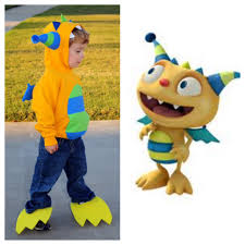 my henry hugglemonster costume pieced together from dinosaur and