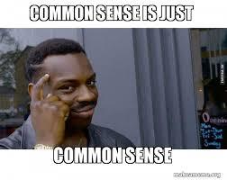 Common Sense Meme - common sense is just common sense roll safe black guy pointing