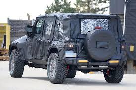 new jeep wrangler jl 2018 jeep wrangler jl spied shows new hardware autoevolution