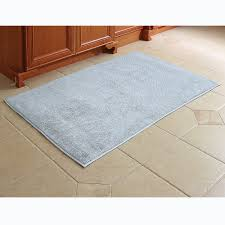 Cotton Bathroom Rugs The Softest Cotton Bath Rug Hammacher Schlemmer