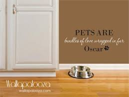 cat wall decals etsy pet wall decal decor name dog