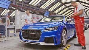 audi factory audi tt rs 2017 production youtube