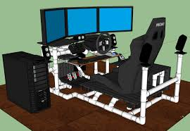 sim rig gaming desk my diy racing rig project gtplanet