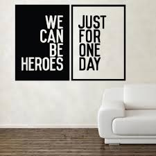 compare prices on wall stickers lyrics online shopping buy low david bowie heroes song music lyrics wall sticker art artisitc decorations china mainland