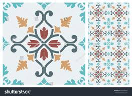 arabic patter style tiles wall floor stock vector 684293440