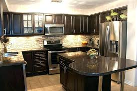 kitchen ideas with brown cabinets kitchen backsplash ideas with dark oak cabinets katchthis co