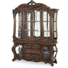 Dining Room Set With China Cabinet Aico Palais Royale China Cabinet In Rococo Cognac Finish For
