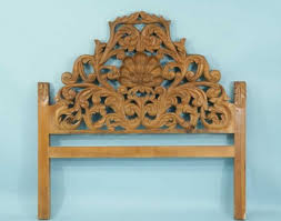 Carved Wood Headboard Bedroom Fabulous 186 Wood Carved Size Headboard Lot 186