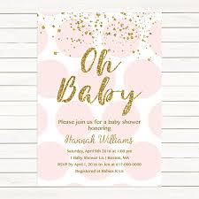 pink and gold baby shower invitations pink and gold baby shower invitation gold confetti baby girl