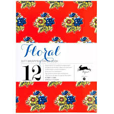 flower wrapping paper assorted flower floral gift wrapping paper pad pipii