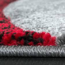 Wohnzimmer Schwarz Grau Rot Designer Teppiche Teppichcenter24