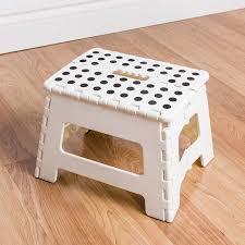 ksp dots folding step stool medium white kitchen stuff plus
