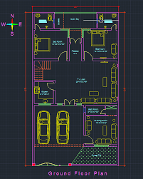 free autocad floor plans house plan with interior presentation free download autocad file