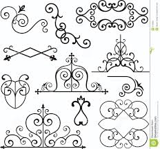 wrough iron ornaments stock vector image of header deco 3739582