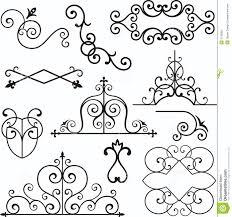 wrough iron ornaments stock vector illustration of header 3739582