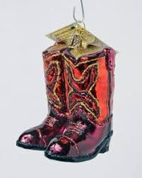 cowboy boot glass ornament cowboy boots cowboys and
