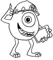 disney coloring pages pictures monsters inc coloring pages