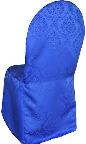 royal blue chair covers royal blue damask banquet chair covers wholesale